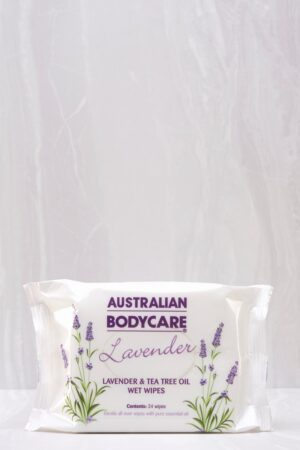 Tea Tree Oil & Lavender Wet Wipes Handy 24 Pack - Currently Out Of Stock by Australian Bodycare